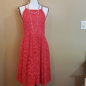 Coral Torrid Lace Dress Sz 20
